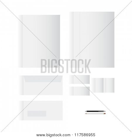 Blank White Stationery Template Design for Your Business | Modern Vector Design