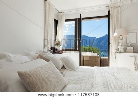 Architecture, nice bedroom with classic decor
