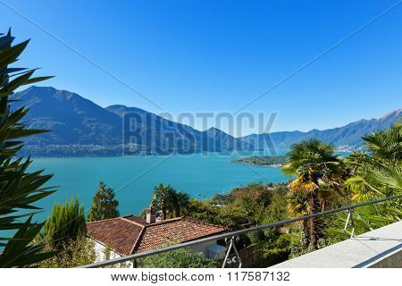 Landscape, nice terrace with lake view