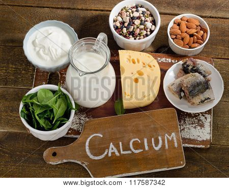 Calcium Rich Foods Sources. Healthy Eating.