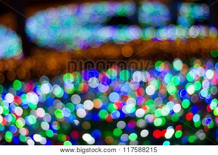Abstract blur(bokeh) in nature background.