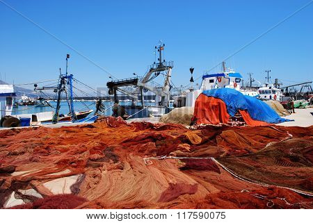 Fishing harbour, Fuengirola.