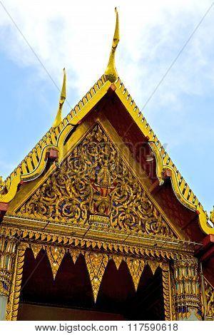 Thailand     Bangkok    Wat  Palaces   Asia Sky    And  Colors
