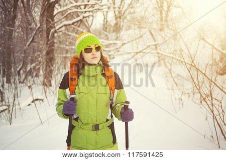 People With Walking Sticks.