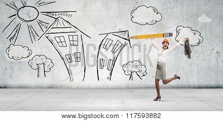 Happy architect designer