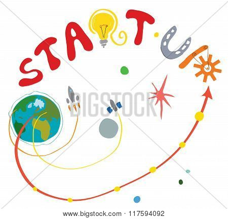 Cosmic Concept For Fast Business Start Up