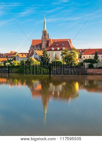 Church of the Holy Cross on Cathedral Island in Wroclaw