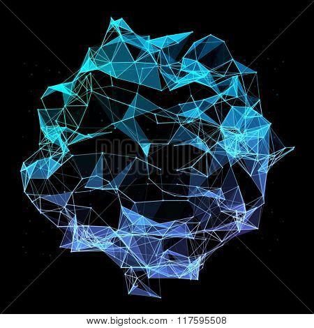 Abstract mesh background with triangles, lines and shapes