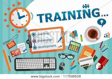 Training Design Concept. Typographic Poster.