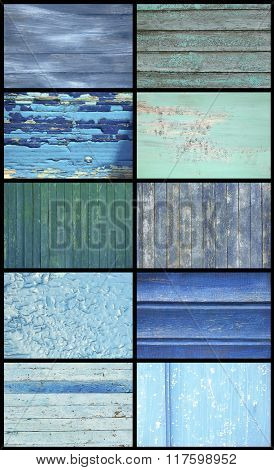 Big collection of different wooden backgrounds