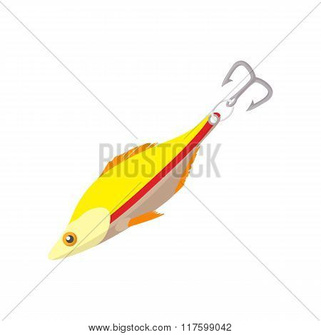 Fishing lure cartoon icon