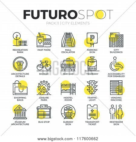 City Objects Futuro Spot Icons