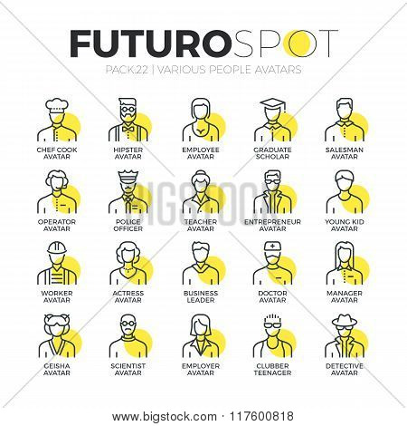Human Avatars Futuro Spot Icons