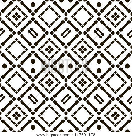 Abstract Seamless Black And White Aboriginal Pattern