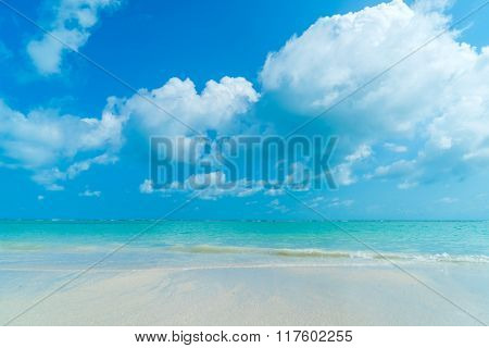beautiful tropical beach and tropical sea