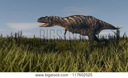 aucasaurus in grassland