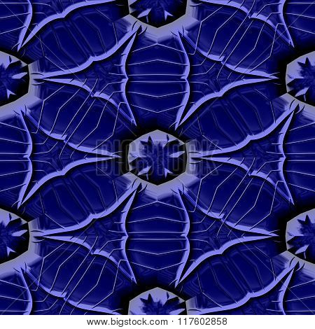 Abstract decorative iron blue texture-pattern