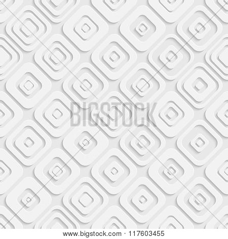 Seamless Square Pattern. Vector Soft Background. Regular White Texture