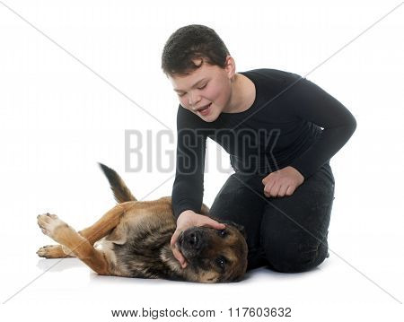 Young Teen And Malinois