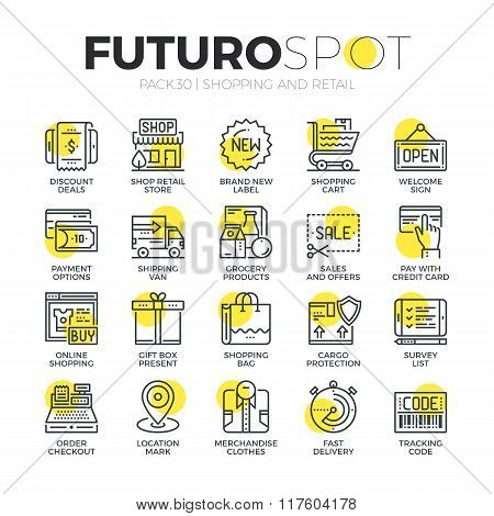 Retail Business Futuro Spot Icons
