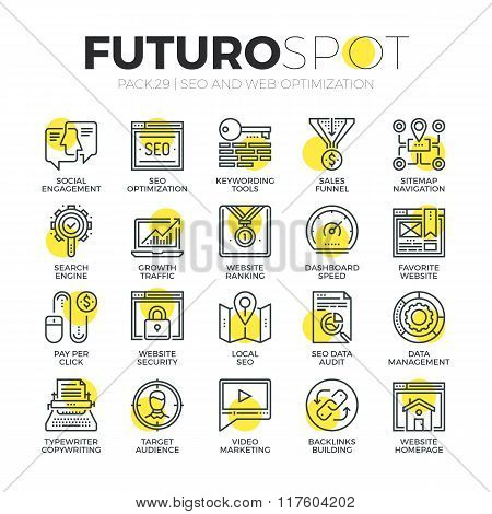 Search Optimization Futuro Spot Icons