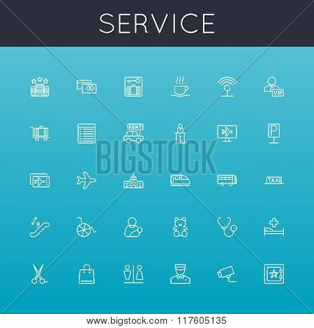 Vector Service Line Icons
