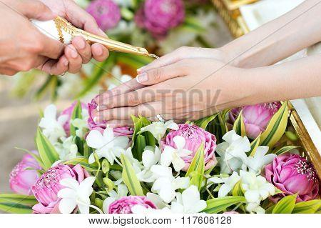 Thai wedding watering ceremony
