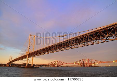 The Forth Road And Rail Bridges
