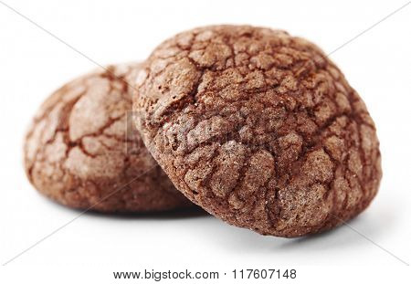 Chocolate chip cookie, isolated on white