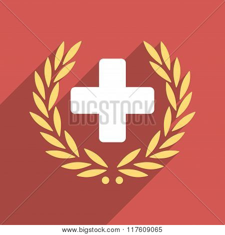 Medical Glory Flat Square Icon with Long Shadow