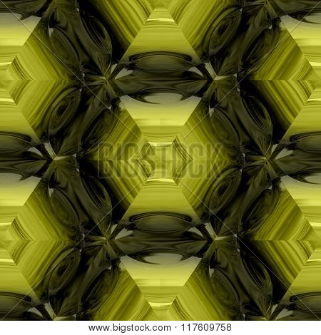 Abstract decorative gold glass - pattern