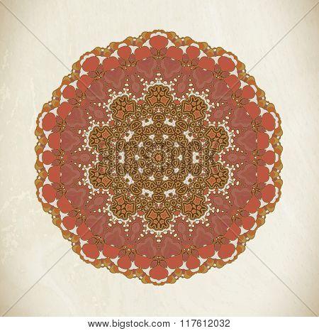 Vintage mandala art
