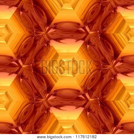 Abstract decorative orange glass - pattern
