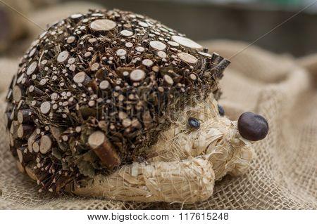 Decorative Wood Hedgehog