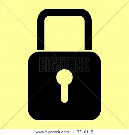 Lock sign. Flat style icon
