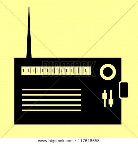 Radio sign. Flat style icon