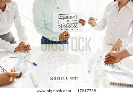 Presenting business plan