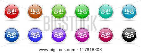 forum colorful web icons set
