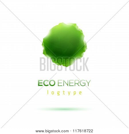 Eco energy abstract shape Logo