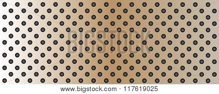 High resolution concept conceptual brown metal stainless steel aluminum perforated pattern texture mesh banner background