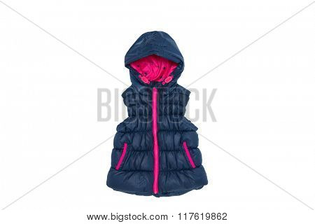 childrens jacket isolated on white