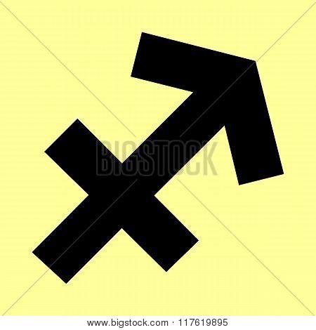 Sagittarius sign. Flat style icon