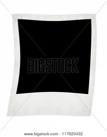 polaroid  photo isolated on the white backgrounds
