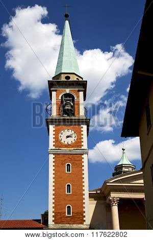 Church Olona  Terrace  Window  Clock And Bell Tower