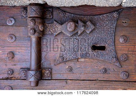 Castle Lock   Lanzarote Abstract Door Wood In The