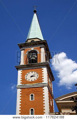 Church   Olgiate Olona     Church Window  Clock And Bell