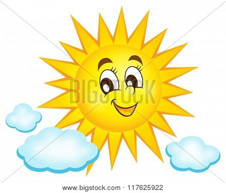 Happy sun topic image 1 - eps10 vector illustration.
