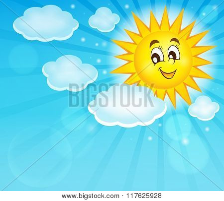 Happy sun topic image 2 - eps10 vector illustration.