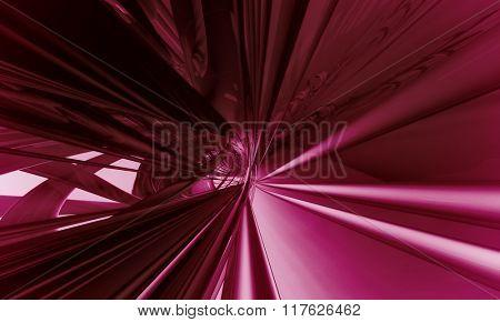 3D red, futuristic background