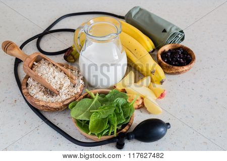 Selection of food that is good fot hypertension